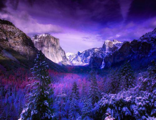 Il Parco Nazionale di Yosemite, in California, visto dal cielo